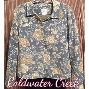 Coldwater Creek Floral Jacket Size M (10 - 12)